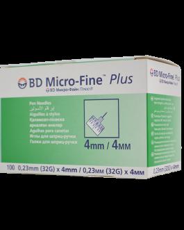 BD MICRO-FINE PLUS AIGUILLE 4MM B/100