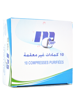 MCOMP COMPRESSES PURIFIEES 7.5CM*7.5CM B/10