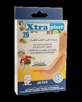 XTRA COMPRESSES PLAST KIDS OCULIARE 6*5CM B/20