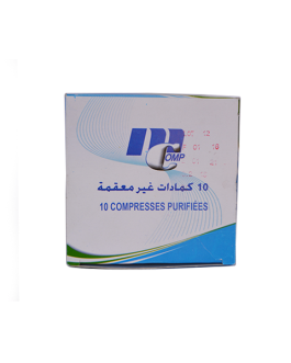 MCOMP COMPRESSES PURIFIEES 10CM*10CM B/10