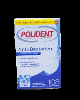 POLIDENT NETTOYANT ANTI BACTERIEN B/108