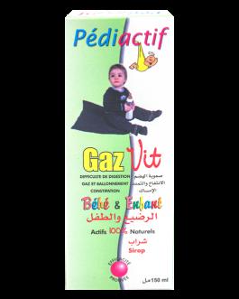 PEDIACTIF GAZ VIT SIROP 150ML