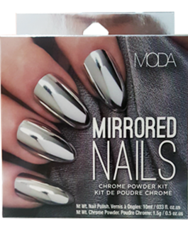 MODA MIRRORED NAILS CHROME POWDER KIT 60