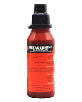 BETADERMINE MOUSSANTE 4% LOTION DERM  125ML