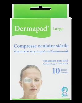 DERMAPAD COMPRESSES OCULAIRE STERIL B/10