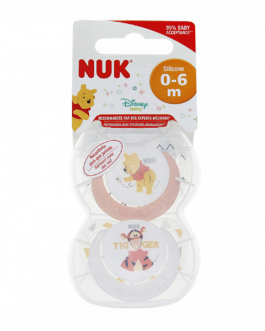 NUK SUCETTE PHYSIO SILICONE DISENY  0-6 M