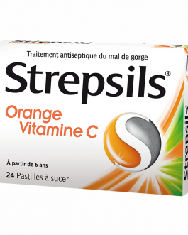 STREPSILS PASTILLES ORANGE + VITAMINE C