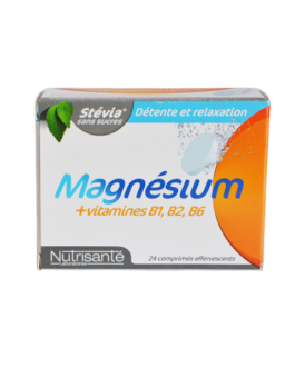 NUTRISANTE MAGNESIUM + VIT B1 B2 B6 A 24 COMPRIMES