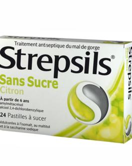 STREPSILS PASTILLES CITRON SANS SUCRE B/24