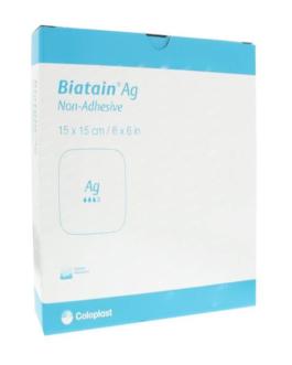 COLOPLAST BIATAIN AG ADHESIVE 15*15CM B/5